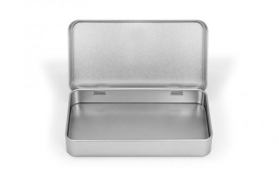 Rectangular metal tin