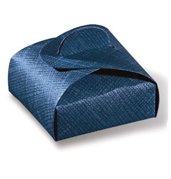 Blue cardboard box