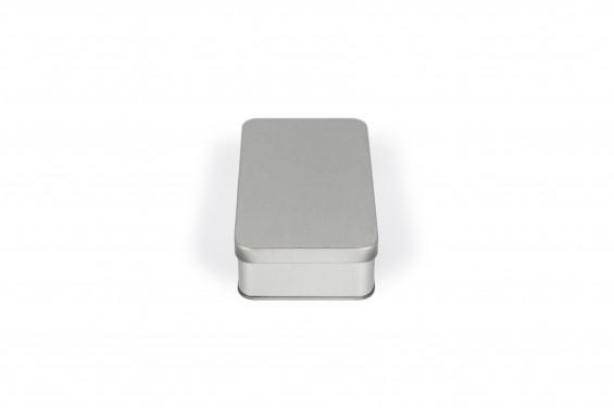 Metal rectangular tin