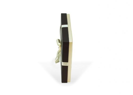 Cardboard box with tie