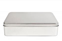 Big rectangular metal tin