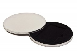 Round metal tin to cards