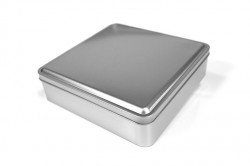 Metal square tin