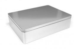 Big metal rectangular tin