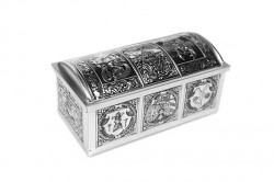 Coffer shaped classic tin