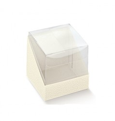 PET cube and cardboard base