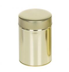 Golden round tin