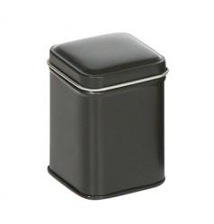 Black square tin S