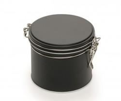 Black metal tin
