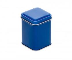 Blue metal tin