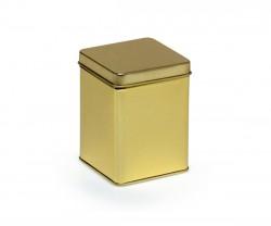 Golden metal tin