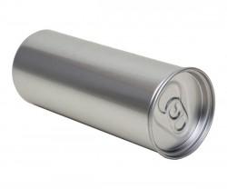 Can with push-in lid
