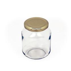 Oval glass jar