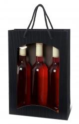Black bag for three bottles