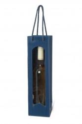 Blue bag for one bottle