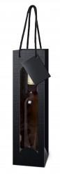 Bottle bag with handle and window handle | Bottle box