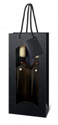 Black bag for two bottles