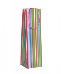 Bag with coloured stripes
