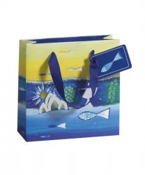 Blue toned paper bag