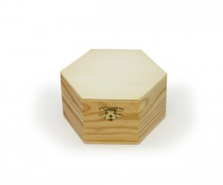 Hexagonal wooden box