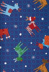 Christmas wrapping paper with Christmas motifs